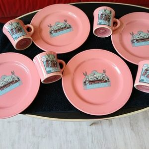 Vintage Bugs Bunny Dishes and Mugs
